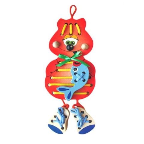 Игрушка-шнуровка Кот Боня, Крона, арт. 193-010