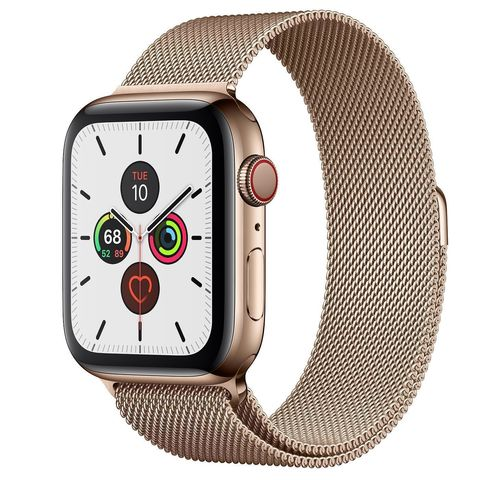 Часы Apple Watch Series 5 GPS + Cellular 44mm Stainless Steel Case with Milanese Loop Gold (Золотой)