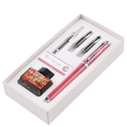 Набор Pierre Cardin We-Share - Pink, перьевая ручка M + 2 сменных пера + чернила + конвертер
