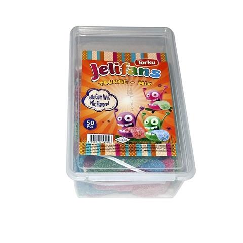 JELIFANS желейные конфеты ассорти язык  1кор*8бл*1шт 900гр