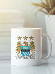 Кружка с изображением FC Manchester City (ФК Манчестер Сити) белая 002