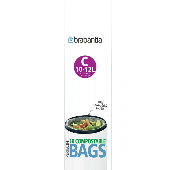 Биоразлагаемые мешки для мусора PerfectFit, размер C (10-12 л), 10 шт., арт. 419782 - фото 1