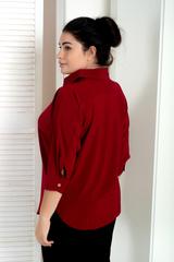 Айріс. Жіноча блуза великих розмірів. Бордо