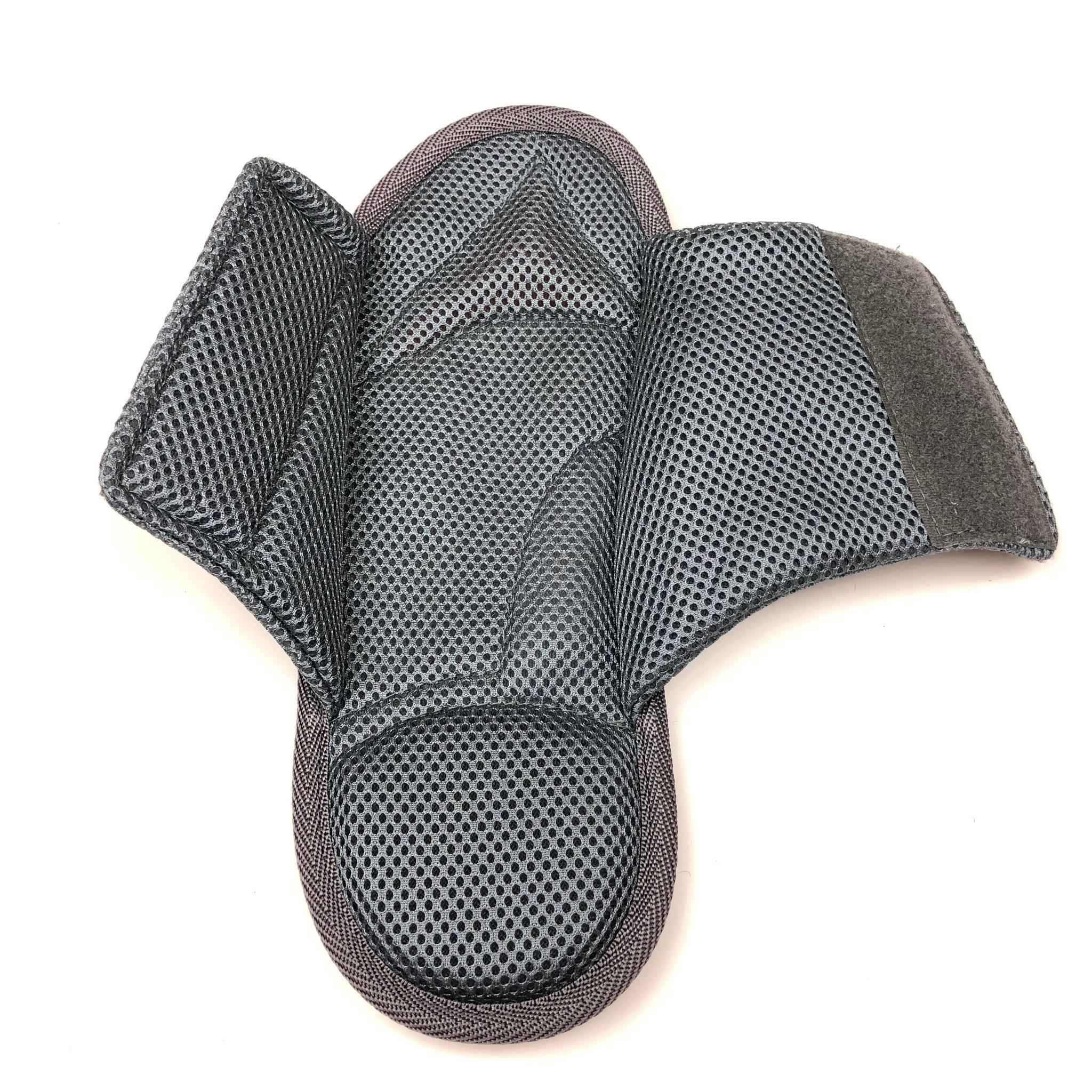 Тапочки анатомические с массажным эффектом, с липучкой, темно-серые