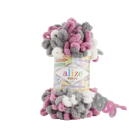 Купить Пряжа Alize Puffy Color Код цвета 6070 | Интернет-магазин пряжи «Пряха»
