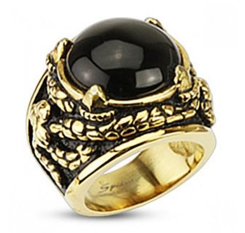Позолоченный перстень мужской