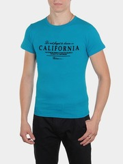 461493-17 футболка мужская, бирюзовая
