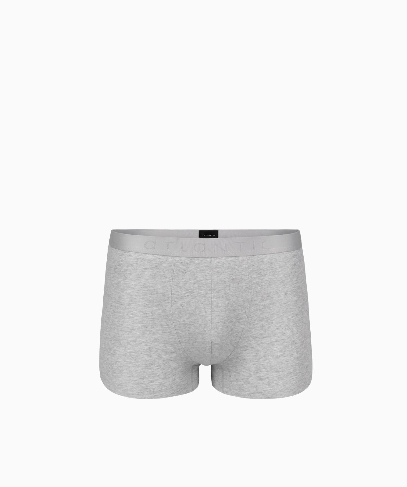 Мужские трусы шорты Atlantic, 1 шт. в уп., хлопок, серый меланж, Basic BMH-018