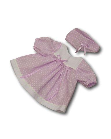 Платье хлопковое - Сиреневый. Одежда для кукол, пупсов и мягких игрушек.
