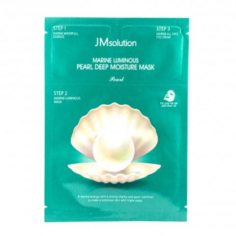 JMsolution Marine Luminous Pearl Deep Moisture Mask трёхшаговый увлажняющий набор с жемчугом