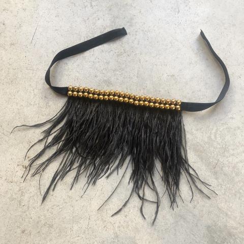 Браслет-трансформер с перьями, черный