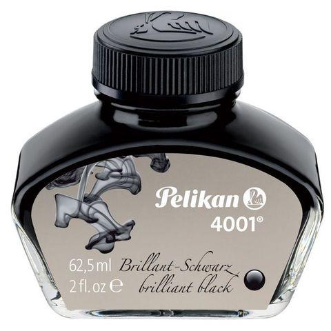 Флакон с чернилами Pelikan INK 4001 76 (PL329144) Brilliant Black чернила черный чернила 62.5мл для ручек перьевых