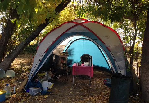 Шатер Canadian Camper SPACE ONE, цвет royal, на природе 5.