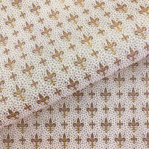 Бумага декоративная Золотые флорентийские лилии