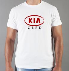 Футболка с принтом KIA Ceed (КИА Сид) белая 007