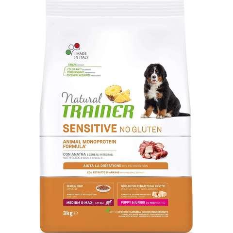 Сухой корм для щенков TRAINER Natural при аллергии, утка (для средних и крупных пород)