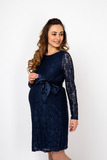 Платье для беременных 08130 синий