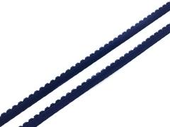 Резинка отделочная темно-синяя 8 мм (цв. 061)