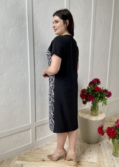 Божена. Стильна повсякденна сукня плюс сайз. Чорний