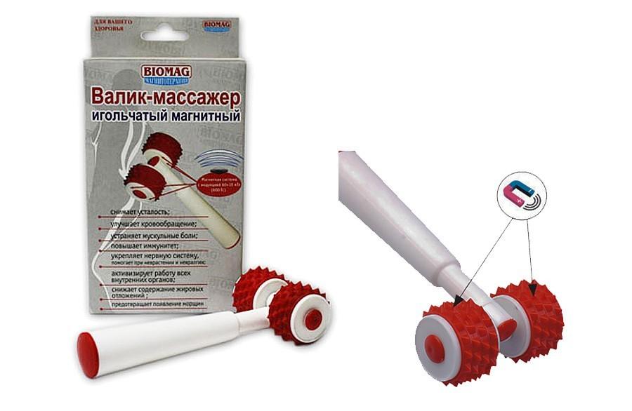 Валик массажер игольчатый магнитный «Биомаг»