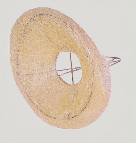 Каркас для букета гладкий (сизаль, диаметр: 30 см) Цвет: кремовый