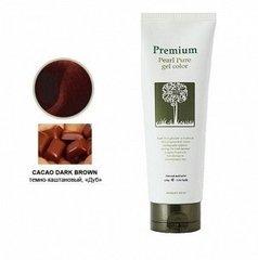 Гель-маникюр Gain Cosmetics для волос темно-коричневый 220 гр
