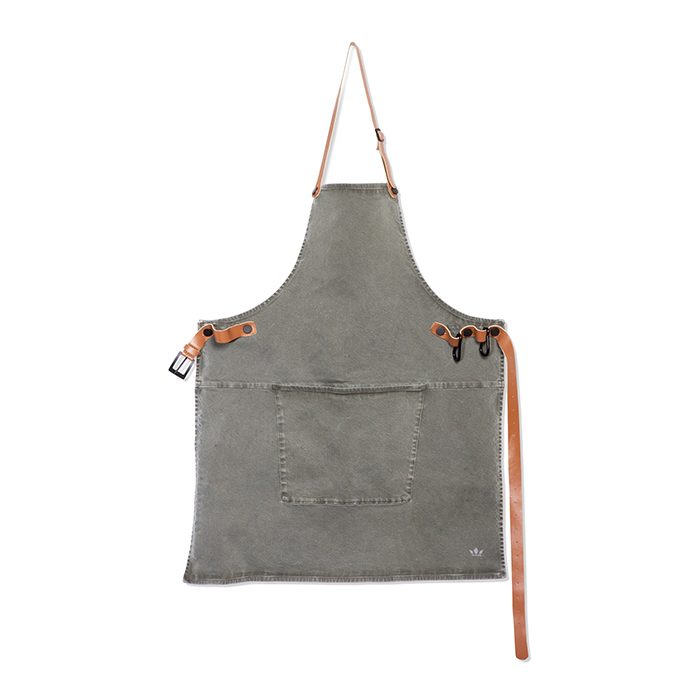 Фартук с карманом BBQ, хлопок, Серо-зеленый, арт. 551901 - фото 1