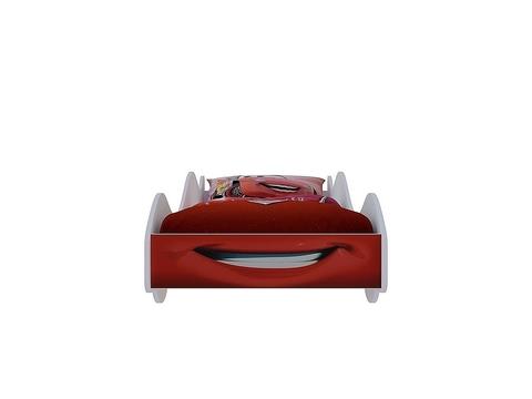 Кровать-машина Старт Браво Мебель лдсп красный