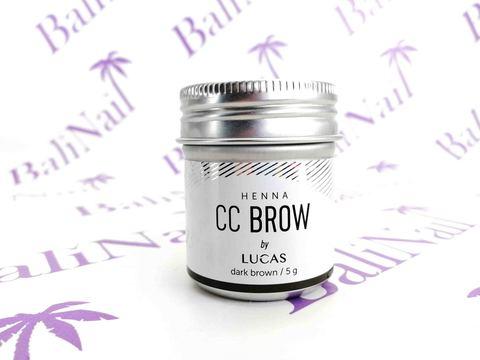 CC BROW, Хна для бровей CC Brow (dark brown) в баночке (темно-коричневый), 5 гр