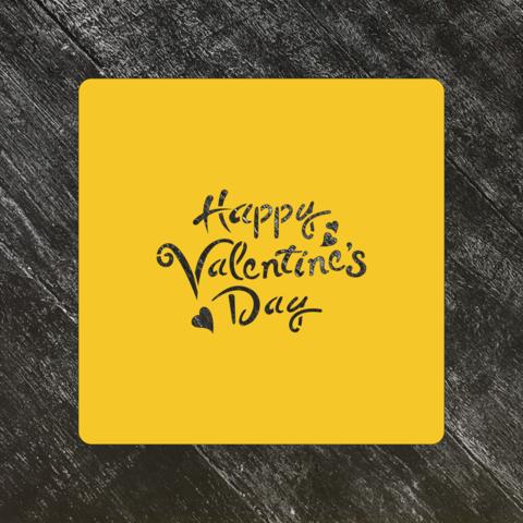 Трафарет любовь №79 Happy Valentines Day/Счастливого дня влюбленных