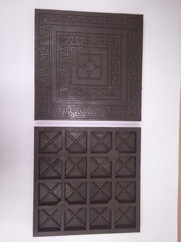 Плитка полимер песчаная рисунок Греческая коричневая 330х330х25мм