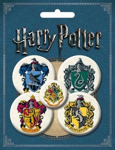 Набор значков Harry Potter: Факультеты