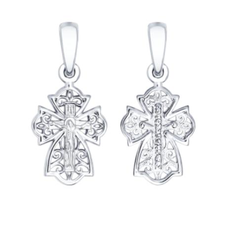 Крест православный нательный серебряный Sokolov арт. 94120159