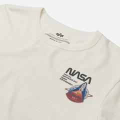Футболка Alpha Industries NASA Columbia White
