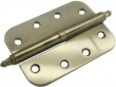 Петля разъёмная стальная скругленная с короной MS-C 100X70X2.5 AB