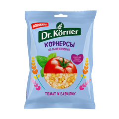 """Чипсы """"Dr. Korner"""" цельнозерновые кукурузно-рисовые  с томатом и базиликом 50 гр"""