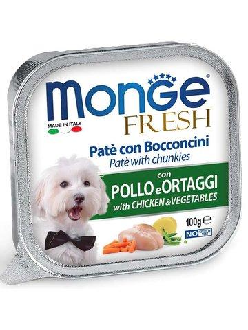 Monge Dog Fresh консервы для собак (курица с овощами) 100г