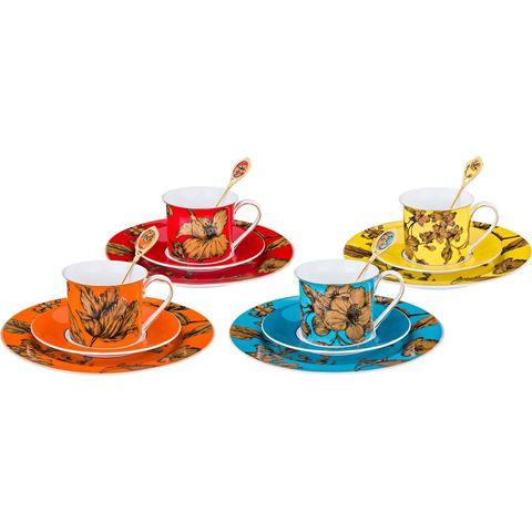 Чайный набор из фарфора на 4 персоны