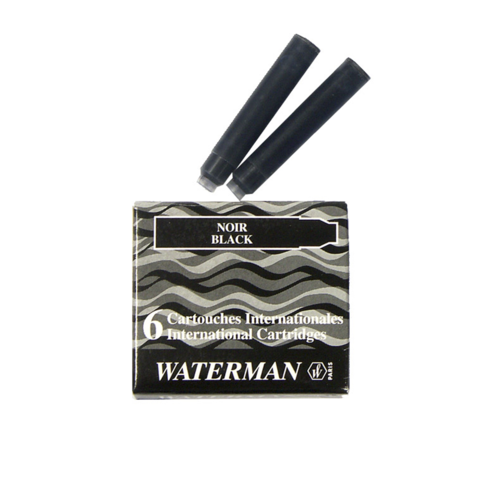 Чернила в картридже Waterman International Black (S0110940)