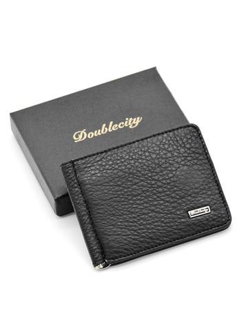 Зажим для денег c RFID-защитой из натуральной кожи Doublecity 130-DC31-11J
