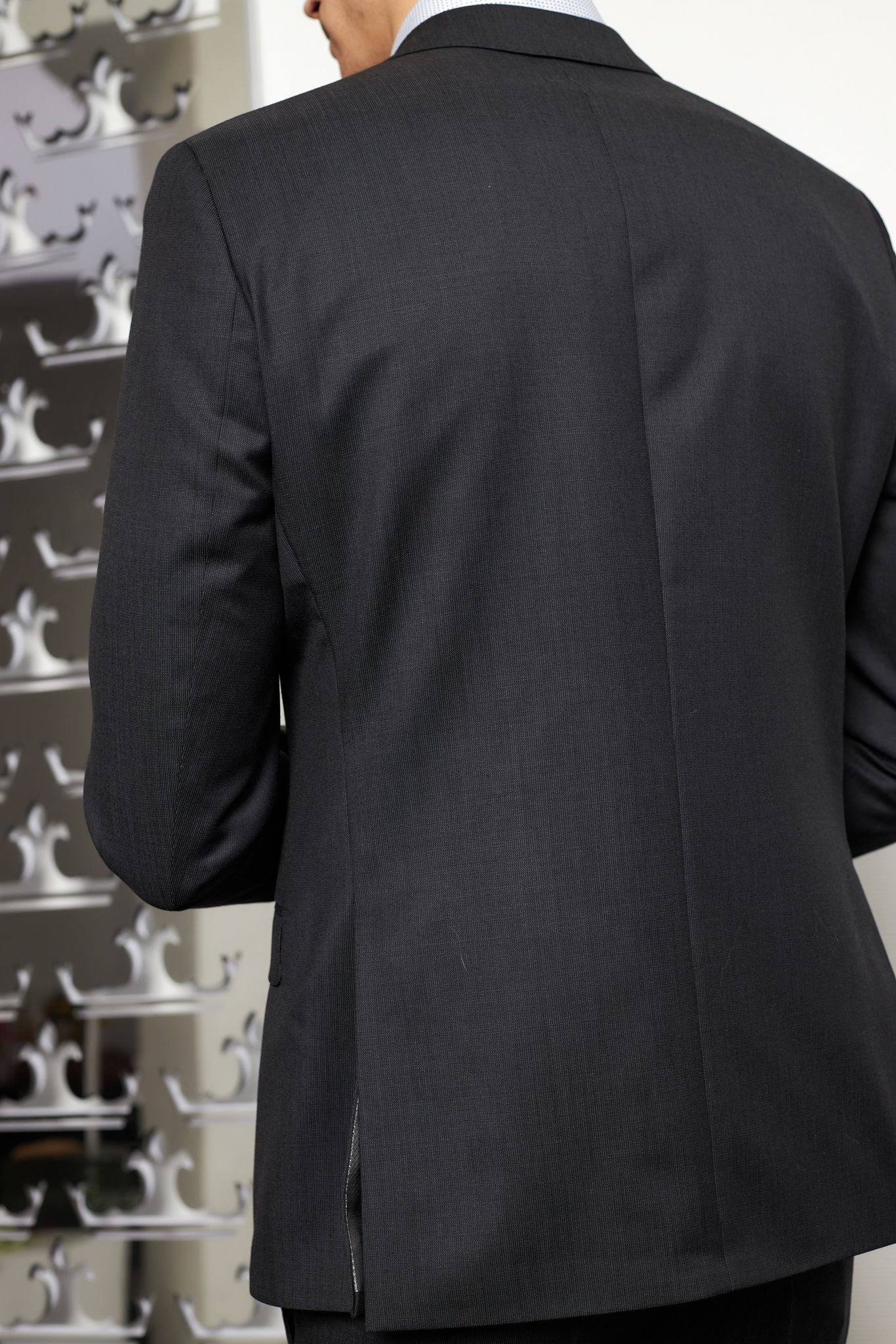 ROY ROBSON Костюм в мелкую выработку из шерсти Angelico Super 100'S