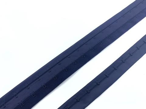 Крючки на ленте двухрядные темно-синие (цв. 061)