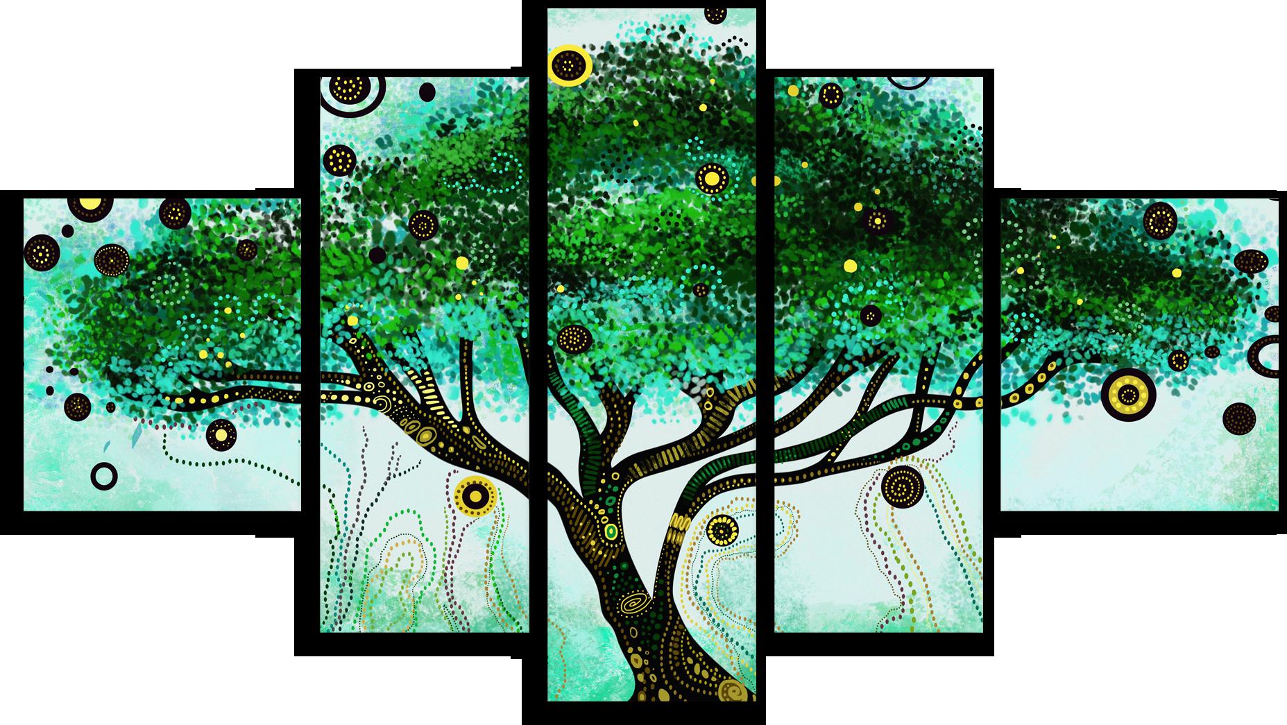 """Модульные картины Модульная картина """"Волшебное дерево"""" М142.png"""