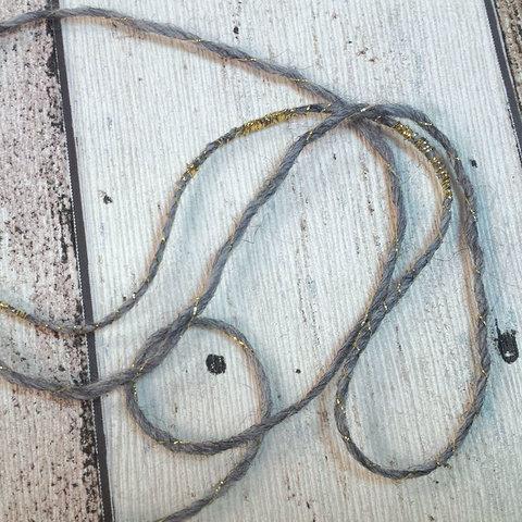 Смесовка с альпакой 190 серый c золотом