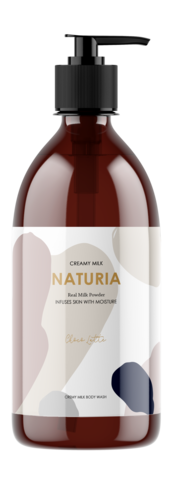 EVAS NATURIA Гель для душа ШОКОЛАД Creamy Milk Body Wash - Choco latte, 750 мл