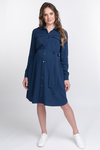Платье для беременных 11559 синий