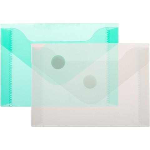 Папка -конверт на кнопке А7 105x74мм 180 мкм  ассорти,Attache  20шт.уп.