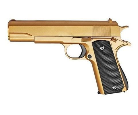 Страйкбольный пистолет Galaxy G.13GD Colt 1911 black металлический, пружинный