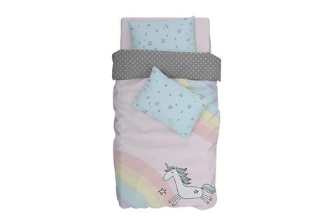 Комплект постельного белья поплин Mia unicorn