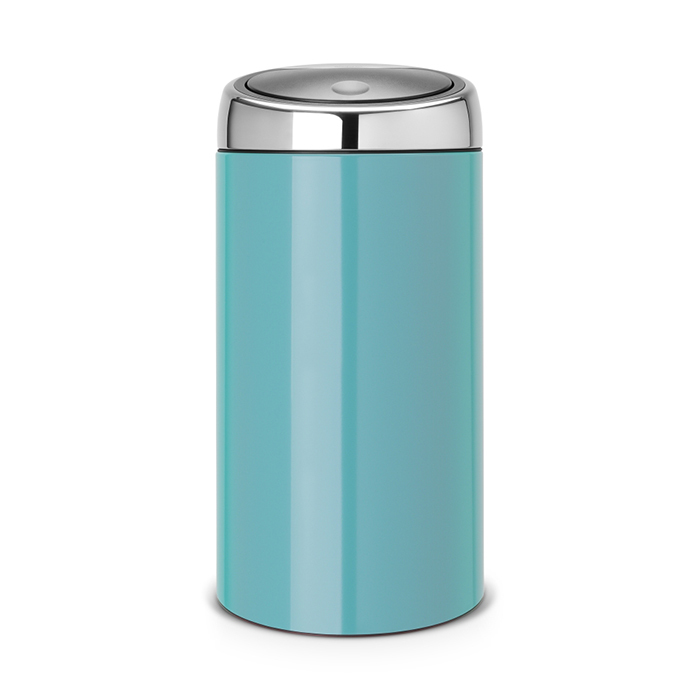 Мусорный бак Brabantia Touch Bin (45л), Лазурно–синий, арт. 481888 - фото 1